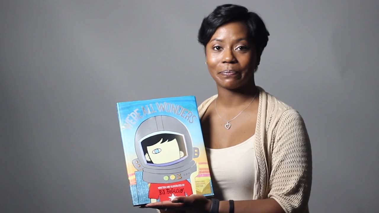 """Devon Frazier from I See Me, Inc. reads  """"We're All Wonders""""  by R.J. Palacio"""